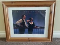 Jack Vettriano Pine Framed Prints x 2