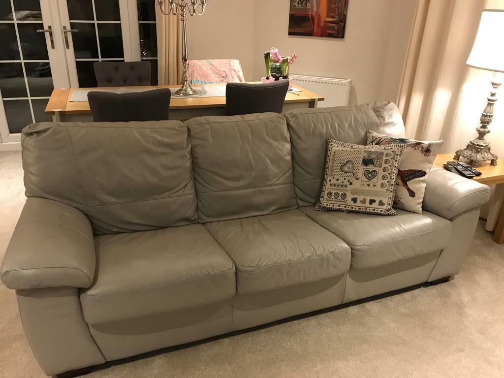 DFS real leather sofa bed   in Livingston, West Lothian ...