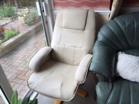 Leather swivel massage chair as new