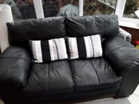 Black premium quality leather sofa for sale