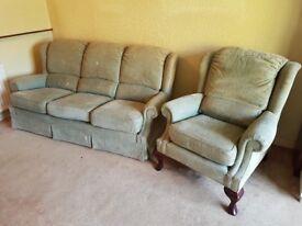 G Plan sofa and chair