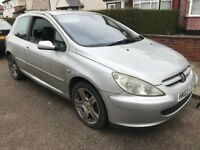 Peugeot 307 SXI 1997cc petrol 5 speed manual 3 door hatchback 03 Plate 30/04/2003 Silver