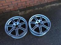 "2x Genuine Honda Civic type R 17"" Alloy Wheels"