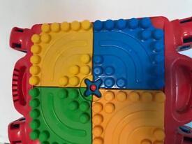 Mega blocks table with blocks