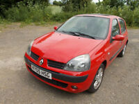 2005 RENAULT CLIO 1.2. WITH MOT. RUNNER OR SPARES.