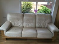 3+1 Leather Suite with footstool