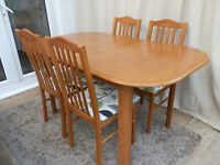 Vintage Extending Dining Table & 4 Chairs