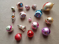 Vintage glass christmas decorations.