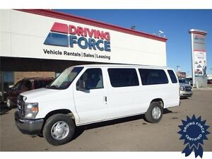 2014 Ford E-350 XL 15 Passenger w/Trailer Tow Package, 29,151 KM