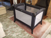 Mamas & Papas travel cot complete with mattress and carrying case exc con