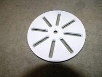 New White Metal Circular Shower Drain Cover Weymouth