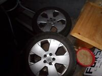 vauxhall vectra c 17 alloys x3,vxr,gsi,elite,sri spare wheel