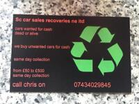 Scrap cars vans 4x4 Bought For Cash same day collection