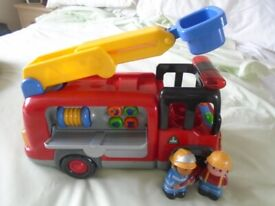 ELC large light and sounds fire engine & figures