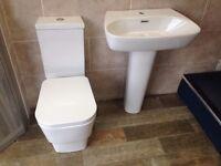 bathroom toilet & basin set *NEW*