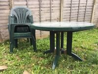Free garden table and 6 chairs