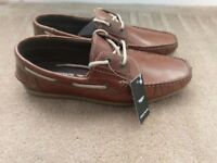 Redtape Real Leather brown mens shoes size 7 - BRAND NEW BOXED