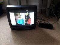 "14"" TV and digital box"