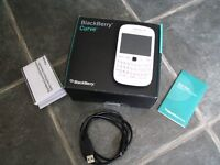 Blackberry Curve 9320 Mobile Phone In White, With Charging Cable & Instructions - REDUCED - MUST GO