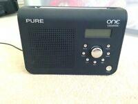 PURE ONE Classic, Portable DAB/FM Radio - Black
