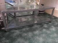 Good Quality Two Level Coffee Table on Wheels