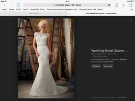 Wedding dress, immaculate, size 10, stunning Mori Lee 1901 with bag