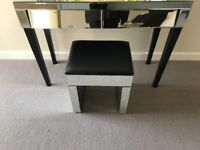 SHOW HOME FURNITURE Padded Mirror Stool
