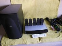 Bose Lifestyle 48 Home Theater System - In Black. Good Working Order