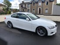 2011 BMW 320d m sport coupe pearl white
