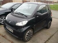 Black Smart Fortwo 1000cc Petrol Automatic