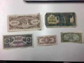 Japanese Government Dollars Notes
