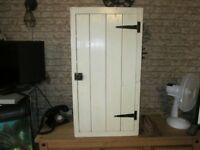 Vintage Old Single Door Food Medicine Pantry Storage Supply Cabinet Cupboard