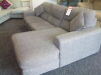 Grey sofology large corner sofa