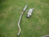 clio 172 cat back stainless exhaust