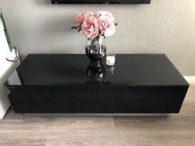 Alphason black gloss tv unit