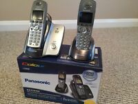 Twin pack digital cordless phones inc answerphone. Panasonic.