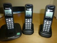 Panasonic Expandable Digital Cordless 3 Phones KX-TG6413ET