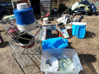 camping stove 2 x coolers kettle camp kitchen please see photos