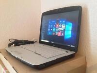 ACER laptop - Windows 10 pro, 3gb ram, ms office