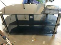 Glass tv bench