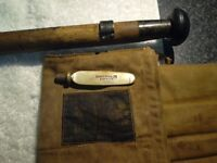 Early hardy palakona regal split cane rod with bag and bank spike