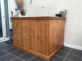 Solid Pine L Shaped Bar **reduced**
