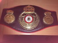 WBA Roberto Duran title belt