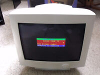 17 inch CRT Computer Monitor with VGA cable and mains lead