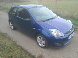 "FORD FIESTA 1.25 ZETEC CLIMATE 3 DOOR HATCH ""08"" REG"