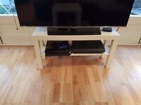 LACK TV bench, TV stand, white