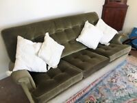 Sofa, reclining chair and single chair. VGC. Can deliver