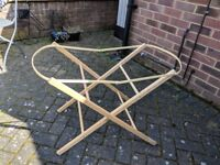 Wooden Moses Basket Stand