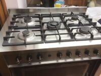 Indesit 90cm Dual Fuel Range Cooker