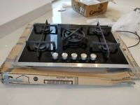 AEG HG795440XB Five Burner Gas Hob With Stainless Steel - Black